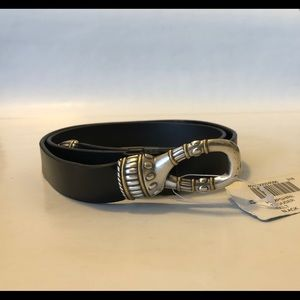 Chicos Women's Adjustable Leather Belt Size Small